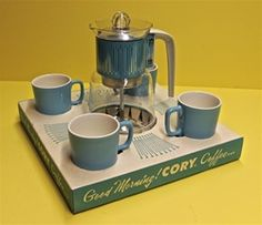 Vintage Coffee Service, Unused in the Original Box, 1950s/1960s