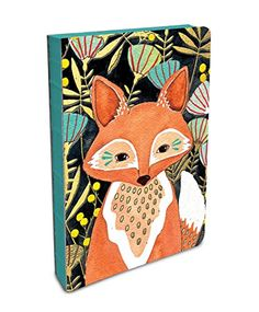 Marisa Redondo - aka River Luna has a way with illustrating animals — her line work, her colors, her fine balance of elements and movement. And Studio Oh! has brand new Coptic-Bound journal styles, and one has her Woodland Fox gracing the cover. Dyi, Fox Crafts, Journal Notebook, Journals, Notebooks, Lined Page, Foil Stamping, Studio, Creative Design