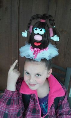 Potato head crazy hair day hairstyles - All For New Hairstyles Crazy Hair Day Girls, Crazy Hair For Kids, Crazy Hair Day At School, Days For Girls, Girl Hair Dos, Crazy Hair Days, Crazy Day, School Days, Flower Girl Hairstyles