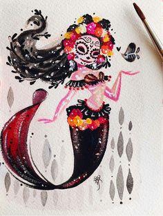 Dia de Muertos Sirena