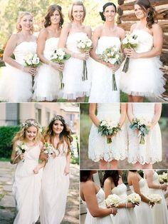 Vestidos de Damas Blancos - Para Más Información Ingresa en: http://vestidoscortosdemoda.com/vestidos-de-damas-blancos/