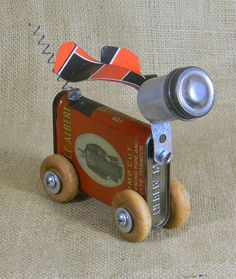 Mini Robot Dog ROSIE Reclaim2fame assemblage by reclaim2fame, $58.00