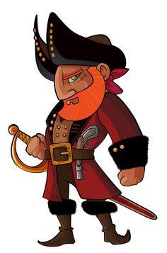 Pirates,  #Character, #Drawings, #Illustration