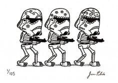 Personajes de Star Wars al estilo arte mexicano-05