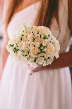 Bridesmaid bouquet: http://www.stylemepretty.com/destination-weddings/2015/03/02/romantic-destination-wedding-in-santorini/   Photography: Greg Pahountis - http://www.wedshooter.gr/