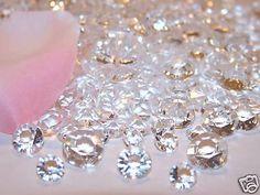 DIAMOND Wedding Party Acrylic Table Ice Favor Centerpiece Lot of 3600 Mixed Size | Home & Garden, Wedding Supplies, Venue Decorations | eBay!