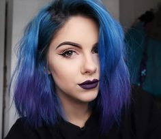 Blue ombre hair dye by sophiehannahrichardson
