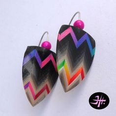 Polymer clay earrings, chevronello technique http://jhsperky.cz/index.php?route=product/product&path=61_71&product_id=465 made by Jana Honnerová