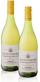 Everyone's all time favourite South African wine! Haute Cabrierre Chardonnay Pinon Noir. BelAfrique - Your Personal Travel Planner - www.belafrique.com