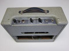1957 Fender made White guitar amp