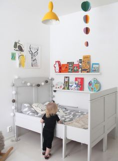Little Spaces - Pyry's Room | Little Gatherer: beautiful white kids room with splashes of colour