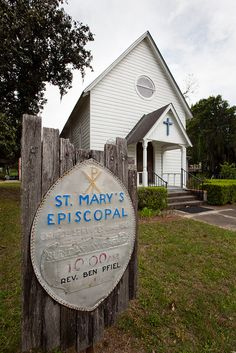 ST. MARY'S EPISCOPAL: The church was organized in 1859 and services have been held in this building continuously since 1881.