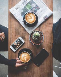 Flatlay Inspiration · via Custom Scene Coffee conversations. # by coffeenclothes Coffee Is Life, I Love Coffee, Coffee Break, Morning Coffee, Coffee Girl, Coffee Cafe, Coffee Drinks, Coffee Shop, Cup Of Coffee