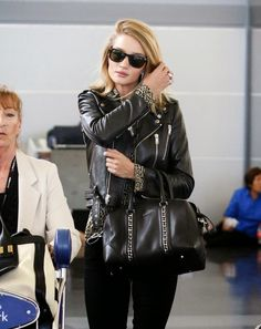 The Front Row View: Rosie Huntington-Whiteley Shows Off Her Style at JFK