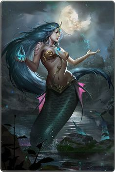 I love all fantasy and mythical stuff, but my favorite ones are mermaids.So this is a collection of mermaid images I've been picking all over the internet. Mermaid Artwork, Mermaid Drawings, Mermaid Tattoos, Mermaid Paintings, Fantasy Mermaids, Mermaids And Mermen, Real Mermaids, Fantasy Women, Fantasy Girl