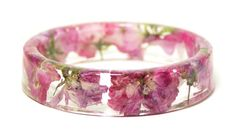 Real Pink Flower Bracelet  Flower Jewelry