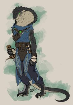 [OC] Amu the Scribe, a Nagaji (Sethrak) Magus! Fantasy Character Design, Character Drawing, Character Concept, Character Inspiration, Monster Characters, Dnd Characters, Fantasy Characters, Dungeon Boss, Dnd Dragonborn