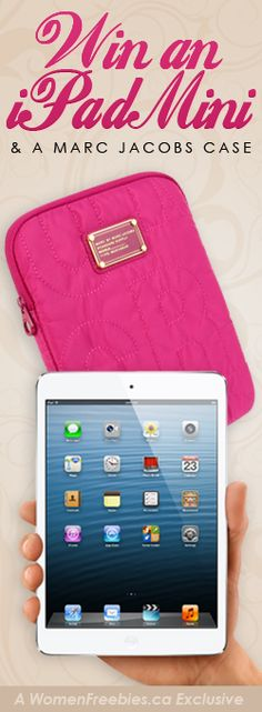 Win an iPad Mini and Marc Jacobs Case *Contest Closes on Sept 29* http://womenfreebies.ca/contest/marc-jacobs-ipad-case-wf/