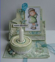 "Stempeleinmaleins: Cakes Card Tutorial...another crafter...I'm in awe of these ""cards""...from Germany"