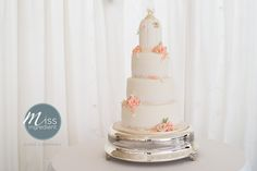 Wedding Cake With Bird Cage Topper By Miss Ing
