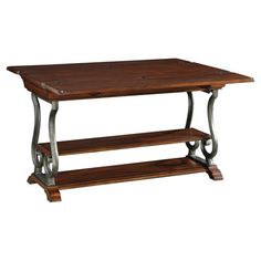 Art Furniture Margaux Flip Top Console In Pine Mahogany Finish