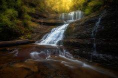 Lady Barron Falls Tasmania Australia by LINCOLN HARRISON PHOTOGRAPHY.