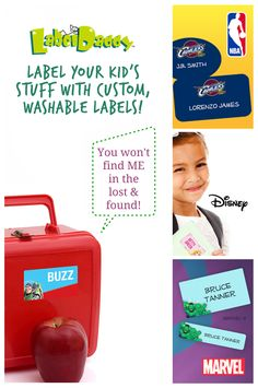 Organize your child's stuff with custom labels from Label Daddy! Personalize each label with their name & address so all those toys, school supplies, and clothes don't end up in the Lost & Found!   Get 20% off your first order with BESTSELLER20.