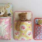 Stuffed animal sleeping bags-Grace is learning to sew and would think this is fun.