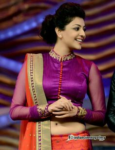 Kajal Indian Blouse Designs, Blouse Back Neck Designs, Choli Designs, Silk Saree Blouse Designs, Saree Blouse Patterns, Designer Blouse Patterns, Fancy Blouse Designs, Henna Patterns, Sonam Kapoor