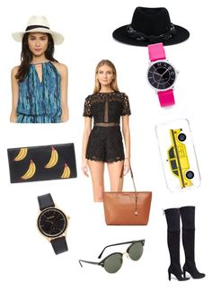 """Love Me Fashion..**"" by yagna ❤ liked on Polyvore featuring Maison Michel, Marc Jacobs, Stuart Weitzman, Kate Spade, Ministry of Style, Nixon, Ray-Ban, Lizzie Fortunato, Hat Attack and MICHAEL Michael Kors"