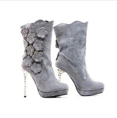 scarpe sposa invernali lightinthebox - winter boots for bride