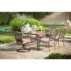 Martha Stewart Living Augusta 7 Piece Patio Dining Set 2 11 801
