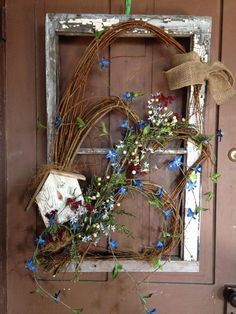 upcycled spring window frame, home decor