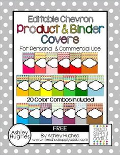 Editable Chevron Binder & Product Covers {Freebie}