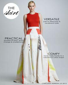 Maybe not so practical but lovely / carolina-herrera-ball-skirt-Neiman-Marcus Passion For Fashion, Love Fashion, High Fashion, Fashion Looks, Fashion Outfits, Womens Fashion, Fashion Design, Ball Skirt, Dress Skirt