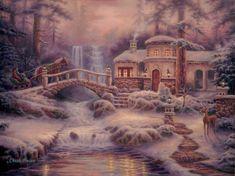 Chuck Pinson Tutt Autumn Lake, Snow Scenes, Short Break, Winter Snow, Small Towns, Winter Wonderland, Coloring Pages, Opera, Romantic