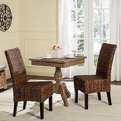 Safavieh Avita Wicker Dining Chairs (Set of 2)