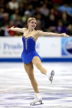 Gracie Gold, age 17 skates at US Figure Skating Championships 2013 and wins silver. Love her!!!