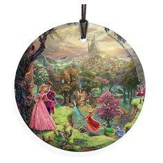 Thomas Kinkade Star Fire Hanging Glass (Ornament)   Sleeping Beauty
