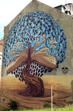 3d Street Art, Urban Street Art, Murals Street Art, Amazing Street Art, Art Mural, Street Art Graffiti, Street Artists, Amazing Art, Land Art