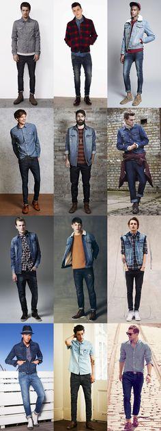 Men's Double Denim Lookbook