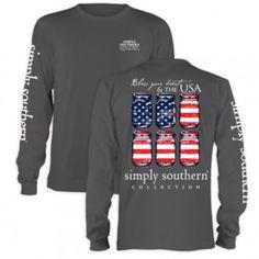Long Sleeve USA Simply Southern T-shirt - $24.99 ShopRubyBlue.com