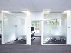 Decorative Films, LLC provides decorative window film, stained glass window film, window privacy film, and frosted glass films. Corporate Interiors, Office Interiors, Interior Office, Interior Design, Window Design, Wall Design, Building Development, Stained Glass Window Film, Glass Office