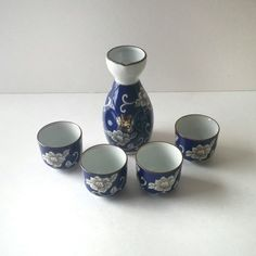 vintage kafuh sake set...who said you have to drink sake...home decor ideas