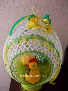 Zaczarowany Świat Alicji: JAJO szydełkowe z otworem Easter Egg Basket, Easter Eggs, Christmas Crochet Patterns, Easter Crochet, Owl House, Egg Decorating, Easter Crafts, Happy Easter, Decoupage
