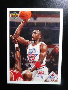 74b69e83854 1991-92 Upper Deck  48 Michael Jordan Chicago Bulls All Star Checklist Card