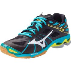 811ea6c375d3c Mizuno Wave Lightning Z Womens Volleyball Shoes Black Alaskan Blue Womans  12     You can get additional details at the image link.