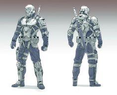 ArtStation - Sci-fi character drawings, Adam Lee