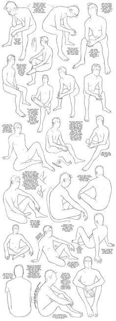 Sitting Tutorial (male) by DerSketchie: