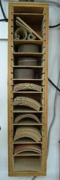 Sandpaper Wall StorageCabinet